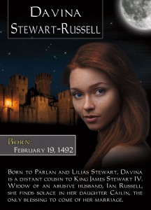Romance Trading Card for Davina Stewart-Russell