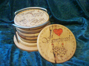 Bonded By Blood Vampire Coaster Set